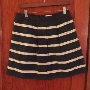 LOFT a-line striped skirt